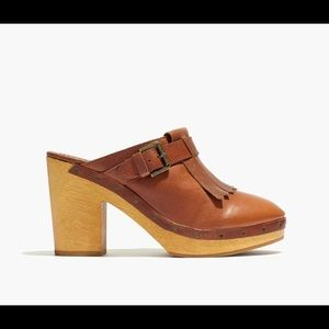Madewell Fringed Brown Clog